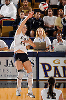 20 November 2008:  FIU middle blocker Isadora Rangel (14) attempts a kill shot during the FIU 3-1 victory over South Alabama in the first round of the Sun Belt Conference Championship tournament at FIU Stadium in Miami, Florida.