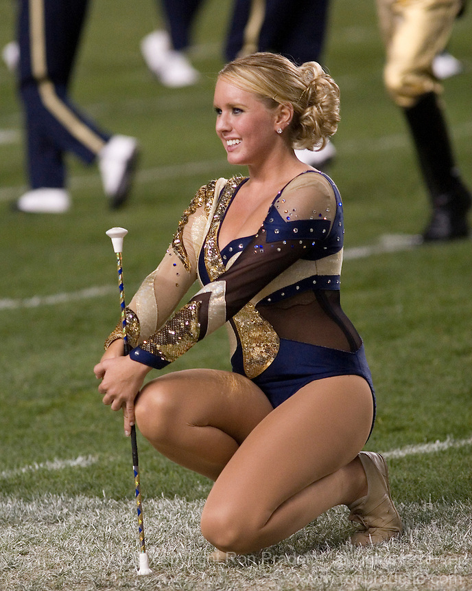 10 October 2007: Pitt Golden Girl..The Navy Midshipmen beat the Pitt Panthers 48-45 in double overtime on October 10, 2007 at Heinz Field, Pittsburgh, Pennsylvania.
