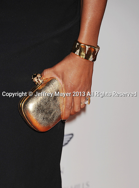 CENTURY CITY, CA- MAY 03:   Singer/TV personality Melanie Brown (handbag, bracelet, ring detail)  at the 20th Annual Race To Erase MS Gala 'Love To Erase MS' at the Hyatt Regency Century Plaza on May 3, 2013 in Century City, California.