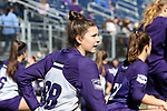 DURHAM, NC - FEBRUARY 18: Northwestern's Brianna Stroup (CAN). The Duke University Blue Devils hosted the Northwestern University Wildcats on February 18, 2018, at Koskinen Stadium in Durham, NC in women's college lacrosse match. Duke won the game 9-8.