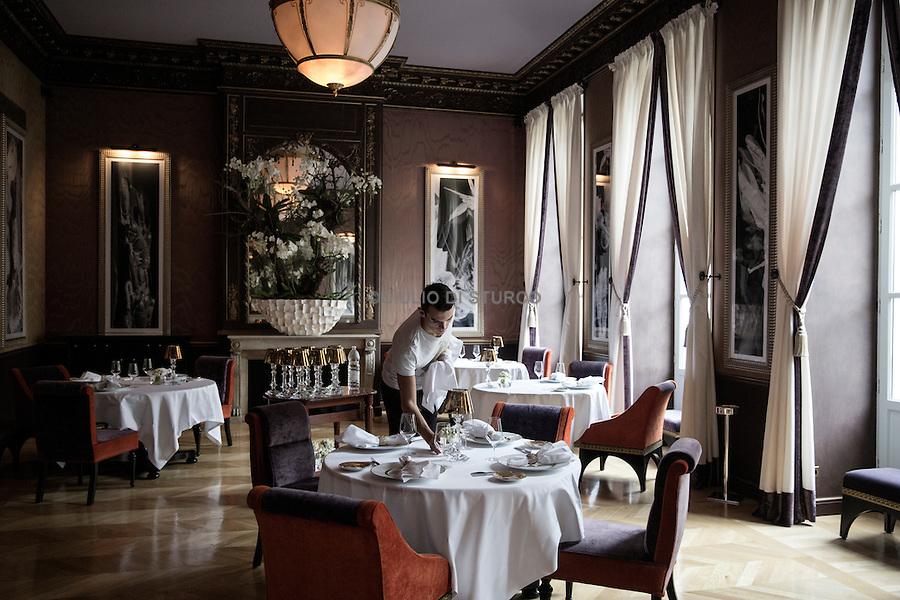 "The gourmet restaurant "" Le pressoir d'argent ""  of the famous chef Gordon Ramsay"