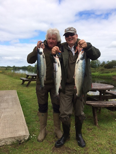 Michael Mahnke - With a morning's catch from Mount Falcon river Moy July 2020