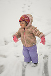 Toddler  in snow.