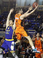 Montakit Fuenlabrada's Ian O'Leary (r) and Herbalife Gran Canaria's Darko Planinic during Eurocup, Top 16, Round 2 match. January 10, 2017. (ALTERPHOTOS/Acero) /NORTEPHOTO.COM