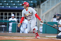 Springfield Cardinals Alex Mejia (7) swings during the game against the Northwest Arkansas Naturals at Arvest Ballpark on May 3, 2016 in Springdale, Arkansas.  Springfield won 5-1.  (Dennis Hubbard/Four Seam Images)