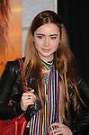 """HOLLYWOOD, CA. - March 25: Lily Collins  arrives to """"The Last Song"""" Los Angeles Premiere at ArcLight Hollywood on March 25, 2010 in Hollywood, California."""