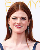 LOS ANGELES, CA, USA - AUGUST 25: Actress Rose Leslie arrives at the 66th Annual Primetime Emmy Awards held at Nokia Theatre L.A. Live on August 25, 2014 in Los Angeles, California, United States. (Photo by Celebrity Monitor)
