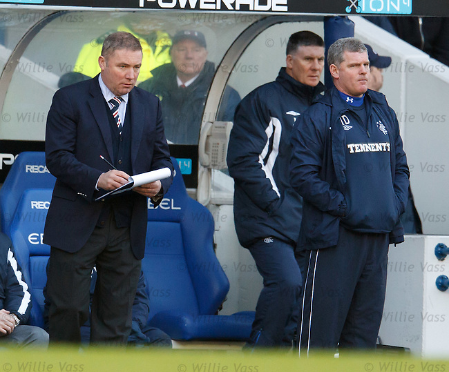 Ally McCoist with the clipboard