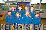 Scoil Mhichi?l Ballinskelligs had eight new juniors start school on Thursday pictured here front l-r; Sean Gu?ga?n, Eili?n Ni? Mhurchu?, Aoife Ni? Luanaigh, Aoibhinn Ni? Mhocho?ir, back l-r; Toma?s O? Briain, Michea?l O? Scanla?in, Caoimhe Ni? Fhearais & Aoibhe Ni? Leidhin.
