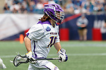 Troy Reh (#10) attacks as Yale defeats UAlbany 20-11 in the NCAAA semifinal game at Gillette Stadium, May 26.
