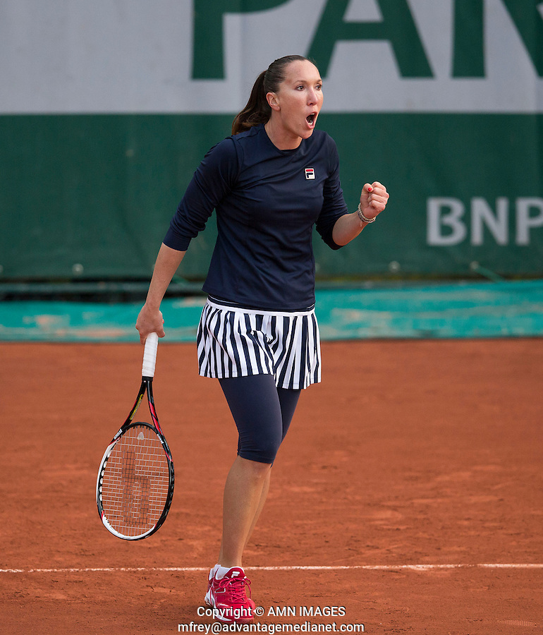 JELENA JANKOVIC (SRB)<br /> <br /> Tennis - French Open 2014 -  Toland Garros - Paris -  ATP-WTA - ITF - 2014  - France -  26 May 2014. <br /> <br /> &copy; AMN IMAGES