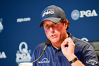 Phil Mickelson (USA) during press conference during Tuesday's preview of the PGA Championship  at Quail Hollow in Charlotte, North Carolina. 8/8/2017.<br /> Picture: Golffile | Ken Murray<br /> <br /> <br /> All photo usage must carry mandatory copyright credit (&copy; Golffile | Ken Murray)
