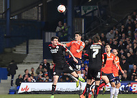 Luton Town defender Alan Shhehan watches the ball during the Sky Bet League 2 match between Luton Town and Crawley Town at Kenilworth Road, Luton, England on 12 March 2016. Photo by Liam Smith.