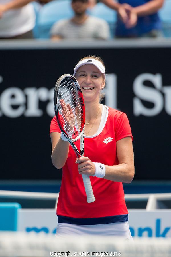 Ekaterina Makarova (RUS)<br /> <br /> Tennis - Australian Open 2015 - Grand Slam -  Melbourne Park - Melbourne - Victoria - Australia  - 25 January 2015. <br /> &copy; AMN IMAGES