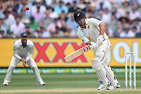 28th December 2019; Melbourne Cricket Ground, Melbourne, Victoria, Australia; International Test Cricket, Australia versus New Zealand, Test 2, Day 3; Colin De Grandhomme of New Zealand hits the ball - Editorial Use