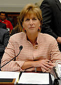 Washington, D.C. - June 25, 2007 -- Former Environmental Protection Agency (EPA) Administrator Christine Todd Whitman waits to testify before the United States House Constitution, Civil Rights, and Civil Liberties Subcommittee hearing on post 9/11 air quality in New York and the area surrounding the Twin Towers in Manhattan in Washington, D.C. on Monday, June 25, 2007.<br /> Credit: Ron Sachs / CNP<br /> (RESTRICTION: No New York or New Jersey newspapers or Newspapers within a 75 mile radius of New York City)