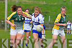 Andrea Murphy  Castleisland Desmonds/Duagh and Megan O'Connell Southern Gaels in action  in the County final in Killorglin on Sunday