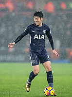 Son Heung-Min of Spurs during the Premier League match between Swansea City and Tottenham Hotspur at the Liberty Stadium, Swansea, Wales on 2 January 2018. Photo by Mark Hawkins / PRiME Media Images.
