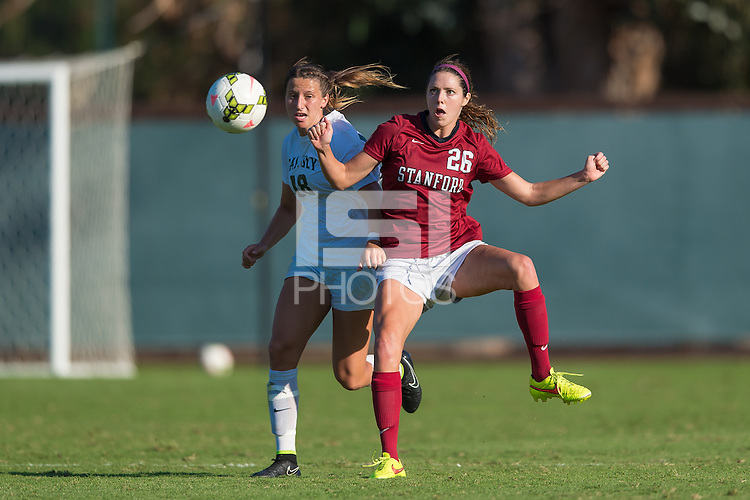 STANFORD, CA - September 21, 2014:  Stephanie Amack during the Stanford vs Cal Poly in a women's soccer match in Stanford, California.  The Cardinal defeated the Mustangs 2-0.