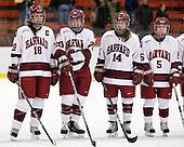 Cori Bassett (Harvard - 18), Kate Buesser (Harvard - 20), Jillian Dempsey (Harvard - 14), Kelsey Romatoski (Harvard - 5) - The Harvard University Crimson defeated the Northeastern University Huskies 1-0 to win the 2010 Beanpot on Tuesday, February 9, 2010, at the Bright Hockey Center in Cambridge, Massachusetts.