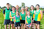 An Riocht runners at the Kerry Cross Country championships in Firies on Sunday front row l-r: Alex O'connor, Mary O'Connor, Helena Shanahan, Saoirse Reidy, Liz Heaslip, Sarah Scanlon, Catherine O'Sullivan, Susan Neilan and Sharon Cahill