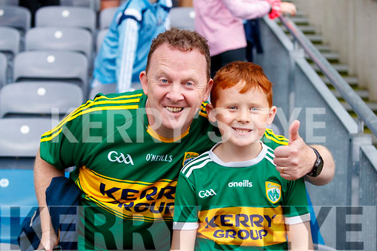 Bryan and Cathal Carr after the All Ireland Senior Football Semi Final between Kerry and Tyrone at Croke Park, Dublin on Sunday.