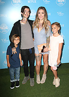 LOS ANGELES, CA - AUGUST 10: Sam Loza, Kyle Loza, Casey Patridge and Sadie Loza at the Netflix Series Premiere Of True And The Rainbow Kingdom at the Pacific Theatres at The Grove in Los Angeles, California on August 10, 2017. <br /> CAP/MPI/FS<br /> &copy;FS/MPI/Capital Pictures