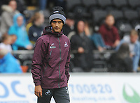 Swansea City's Yan Dhanda during the pre-match warm-up <br /> <br /> Photographer Kevin Barnes/CameraSport<br /> <br /> The EFL Sky Bet Championship - Swansea City v Preston North End - Saturday August 11th 2018 - Liberty Stadium - Swansea<br /> <br /> World Copyright &copy; 2018 CameraSport. All rights reserved. 43 Linden Ave. Countesthorpe. Leicester. England. LE8 5PG - Tel: +44 (0) 116 277 4147 - admin@camerasport.com - www.camerasport.com