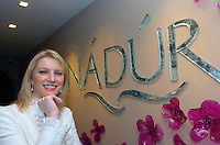 Gorgeous TV presenter (Off the Rails) and current holder of VIP Magazine's Most Stylish Woman of the Year Award, Pamela Flood pictured  when she officially opened the Nadur Spa in Ballygarry House Hotel, Tralee.<br /> Picture by Don MacMonagle<br /> <br /> PR photo