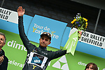 Dexter Gardias Bike Channel Canyon wins the combativity grey jersey at the end of Stage 3 of the Tour de Yorkshire 2017 running 194.5km from Bradford/Fox Valley to Sheffield, England. 30th April 2017. <br /> Picture: ASO/P.Ballet | Cyclefile<br /> <br /> <br /> All photos usage must carry mandatory copyright credit (&copy; Cyclefile | ASO/P.Ballet)