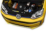 Car Stock 2017 Volkswagen E-Up - 5 Door Hatchback Engine  high angle detail view