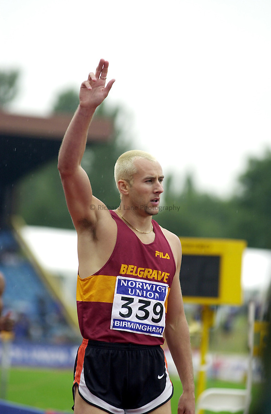 Photo. Richard Lane. .Norwich Union Olympic Trials and AAA Championships, Alexander Stadium , Birmingham. 13/8/2000.Chris Rawlinson.