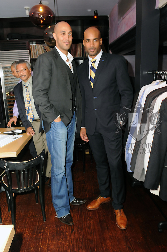 MIAMI, FL - FEBRUARY 07: Actor/ Co-Founder of ALFA Boris Kodjoe (R) and his brother Patrick kodjoe attends an evening of fun and luxury fashion at South Street Restaurant & Bar on February 7, 2013 in Miami, Florida.  (Photo by Johnny Louis/jlnphotography.com)