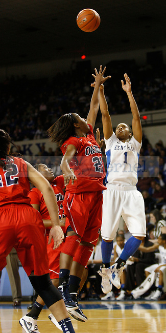 UK's A'dia Mathies shoots against Ole MIss at Memorial Coliseum on Thursday, Feb. 2, 2012. Photo by Scott Hannigan | Staff