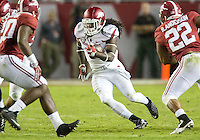 NWA Democrat-Gazette/JASON IVESTER <br /> Arkansas running back Alex Collins (3) carries during the third quarter against Alabama on Saturday, Oct. 10, 2015, at Bryant-Denny Stadium in Tuscaloosa, Ala.