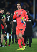 9th December 2017, Selhurst Park, London, England; EPL Premier League football, Crystal Palace versus Bournemouth; Bournemouth Goalkeeper Asmir Begovic clenches his fist towards the Bournemouth fans at full time