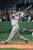 Beloit Snappers third baseman Matt Chapman (7) at bat during a game against the Clinton LumberKings on August 17, 2014 at Ashford University Field in Clinton, Iowa.  Clinton defeated Beloit 4-3.  (Mike Janes/Four Seam Images)