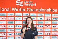 Picture by Allan McKenzie/SWpix.com - 13/12/2017 - Swimming - Swim England Winter Championships - Ponds Forge International Sport Centre - Sheffield, England - Annabel Guye-Johnson takes silver in womens open 50m breaststroke final.
