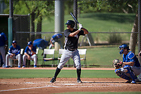 Justin Yurchak (65) of the Chicago White Sox at bat during an Instructional League game against the Los Angeles Dodgers on September 30, 2017 at Camelback Ranch in Glendale, Arizona. (Zachary Lucy/Four Seam Images)