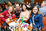 Ciara Sharp, Jonathan Lynch, Symone Hunt and Amy Heaphy enjoying the Tralee Musical Society Quiz in Na Gaeil on Friday night.