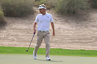 Soren Kjeldsen (DEN) on the 3rd during Round 1 of the Omega Dubai Desert Classic, Emirates Golf Club, Dubai,  United Arab Emirates. 24/01/2019<br /> Picture: Golffile | Thos Caffrey<br /> <br /> <br /> All photo usage must carry mandatory copyright credit (&copy; Golffile | Thos Caffrey)