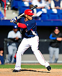 6 March 2010: Washington Nationals' shortstop Ian Desmond in action during a Spring Training game against the New York Mets at Space Coast Stadium in Viera, Florida. The Mets defeated the Nationals 14-6 in Grapefruit League action. Mandatory Credit: Ed Wolfstein Photo