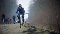 Paris-Roubaix 2013 recon<br /> <br /> Eloy Teruel (ESP) Trou&eacute;e d'Arenberg reconnaissance