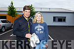 Eamonn Fitzmaurice stands with Ciara O'Dowd at the launch of a 10k fundraiser in memory of her late father, Robert O'Dowd.