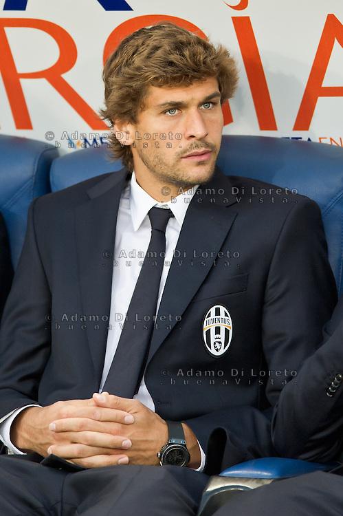 Juventus beat Lazio 4-0 in the Italian Supercoppa final match in Rome, Italy, on August 18, 2013. In the photo: Fernando Llorente Juventus. Photo: Adamo Di Loreto/BuenaVista*photo