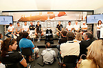 America's Cup World Series skippers press conference,  in Cascais Portugal.