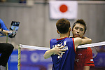 Lee Chong Wei (MAS), Kenichi Tago (JPN), SEPTEMBER 22, 2013 - Badminton : Yonex Open Japan 2013 Men's Singles final at Tokyo Metropolitan Gymnasium, Tokyo, Japan. (Photo by Yusuke Nakanishi/AFLO SPORT) [1090]