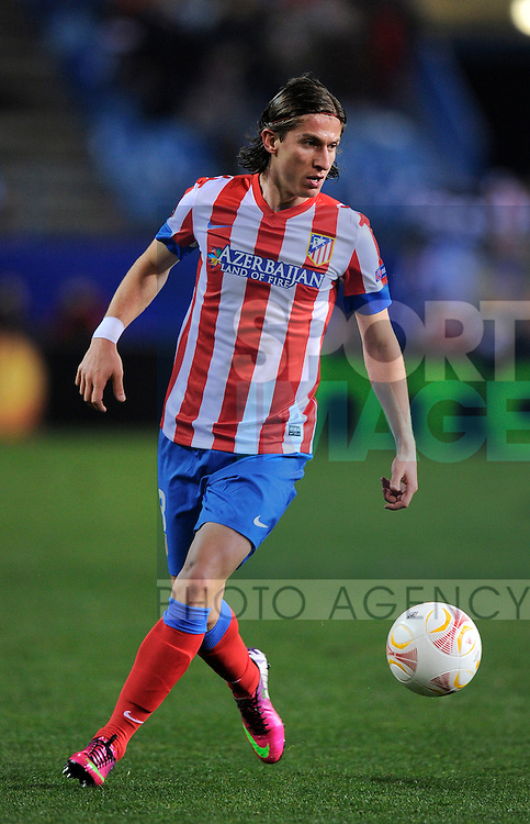 Antonio Lopez of Atletico Madrid - UEFA Europa League Round of 32 - Atletico Madrid vs Rubin Kazam - Vincente Calderon Stadium - Madrid - 14/02/13 - Picture Simon Bellis/Sportimage