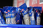 14 May 2016: Packs of Sunflower Seeds await players in the dugout prior to the first game of a double-header between the Miami Marlins and the Washington Nationals at Nationals Park in Washington, DC. The Nationals defeated the Marlins 6-4 in the afternoon matchup.  Mandatory Credit: Ed Wolfstein Photo *** RAW (NEF) Image File Available ***