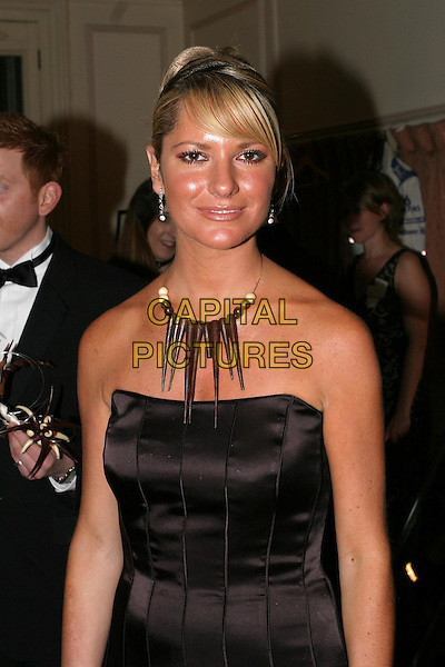 ALEX BEST.The Chocolate Ball in aid of Sargent Cancer Care for Children at the Cafe Royal, Piccadilly.11 March 2004.half length, half-length, necklace.www.capitalpictures.com.sales@capitalpictures.com.© Capital Pictures.